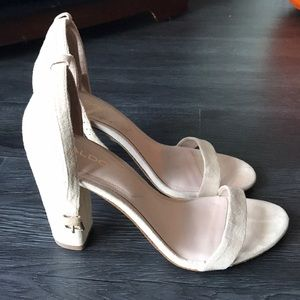 Aldo beige block heels, gently used.